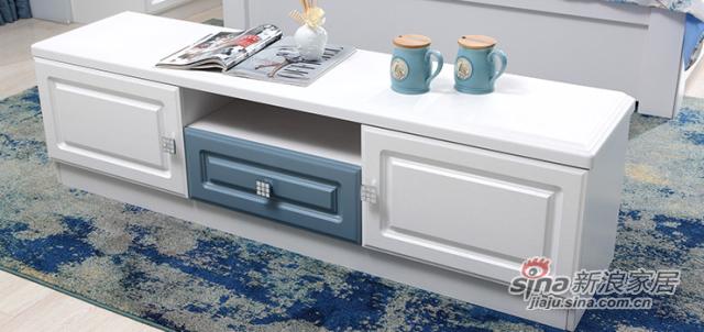 地中海风格简约现代白色电视柜-1