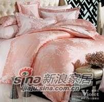 紫罗兰家纺全棉提花四件套晨妆VPEZ607-4-0