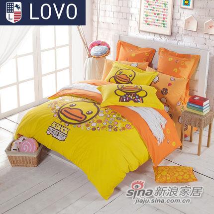 lovo 罗莱家纺出品 床上用品秋冬新品小黄鸭系列全棉纯棉四件套件-0