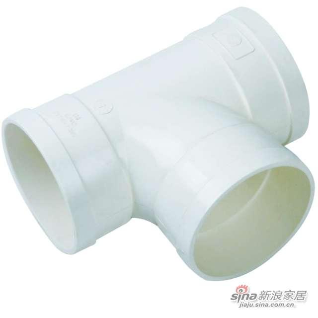 世丰PVC-U顺水三通-0