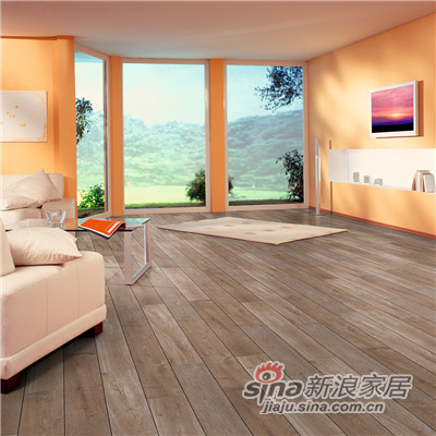德合家ROOMS 强化地板RV802灰色橡木