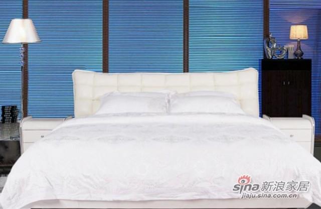 景上家居真皮双人软床