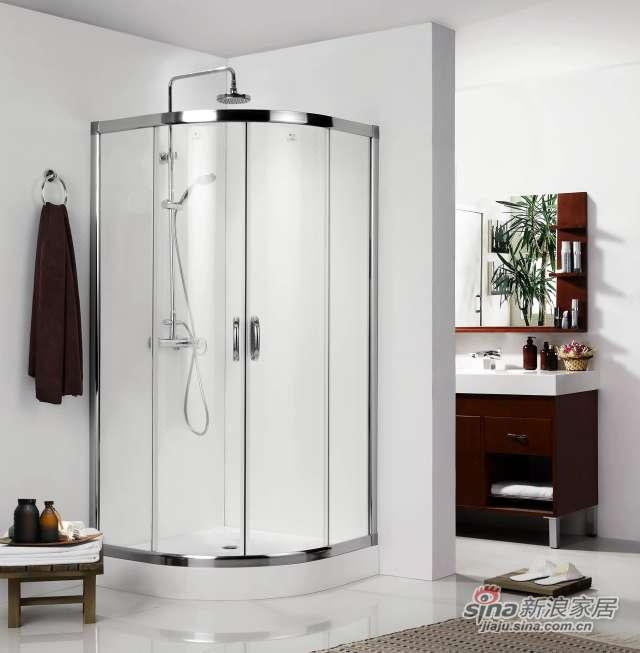 圆弧形推拉门淋浴房