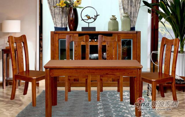 九天家私现代中式实木餐桌-0