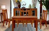 九天家私现代中式实木餐桌