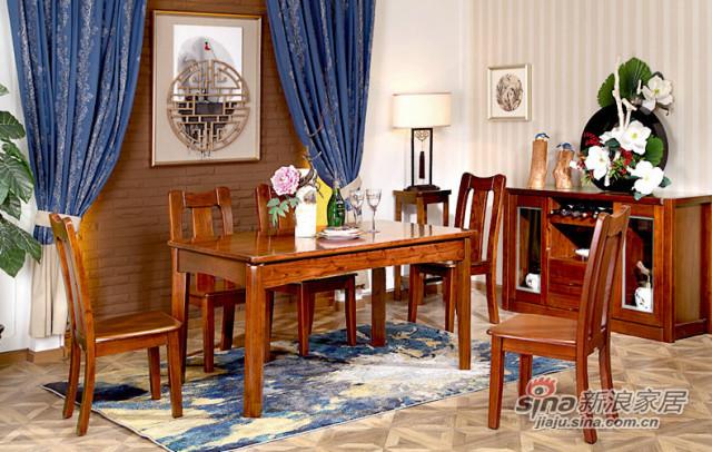 九天家私现代中式实木餐桌-2