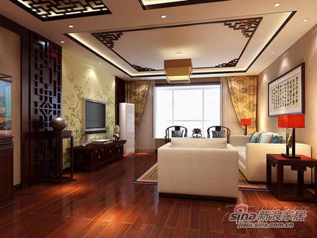 雍景台130平现代中式风格
