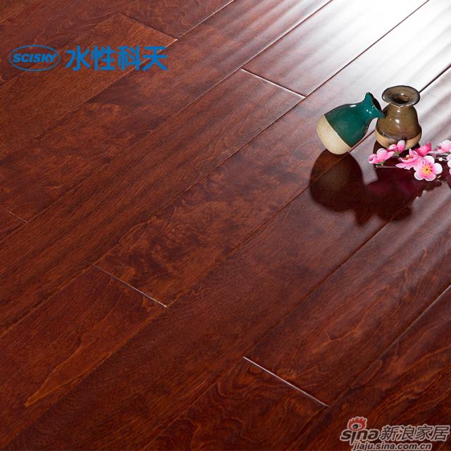 波尔多红酒桦木实木复合地板-0