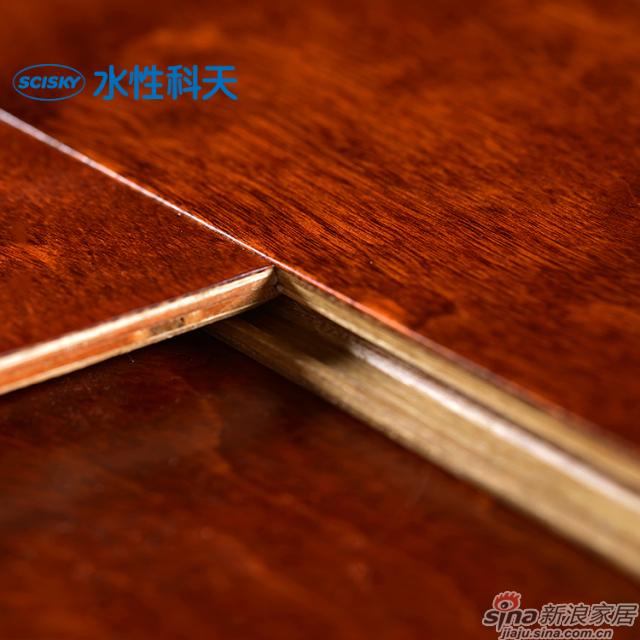 波尔多红酒桦木实木复合地板-5