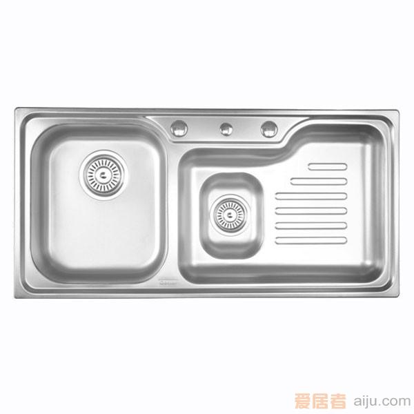 GORLDE优质不锈钢水槽/洗菜池 巴赫系列W2102FY(深翼盆)1