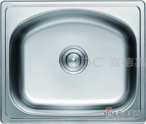 百德嘉五金龙头挂件-H761011不锈钢单槽-0