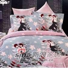 紫罗兰家纺床上用品全棉活性印花四件套魅夜派对PCKA013-4-0