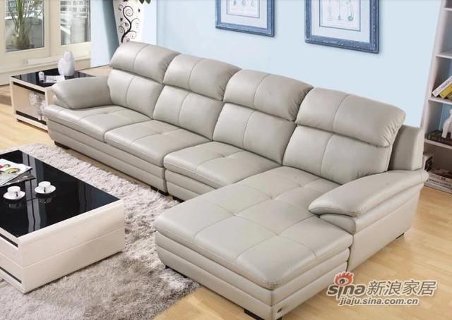 左右真皮沙发组合-2