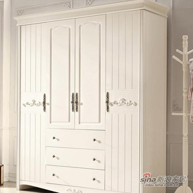 韩式田园带抽屉衣柜-1