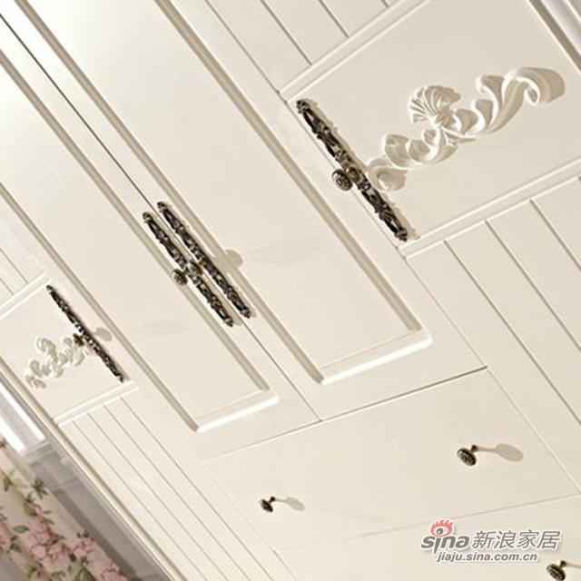 韩式田园带抽屉衣柜-2