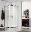 德立洁具圆弧形推拉门淋浴房