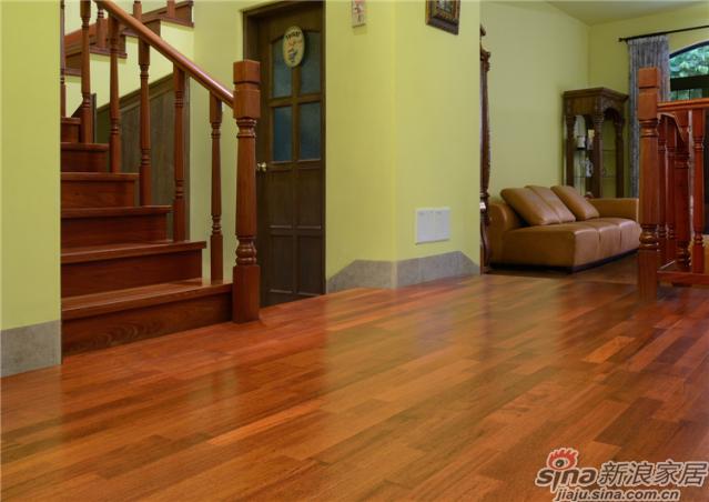 三层实木地板-印茄三拼