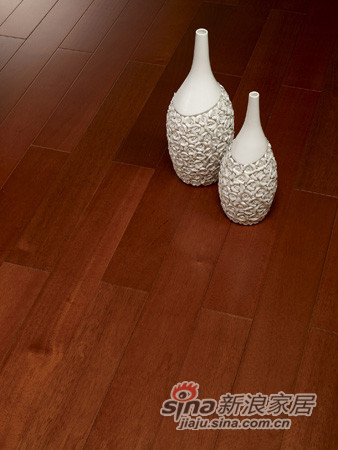 【永吉地板】实木晶砂面——波托菲诺 任嘎漆黄金柚色