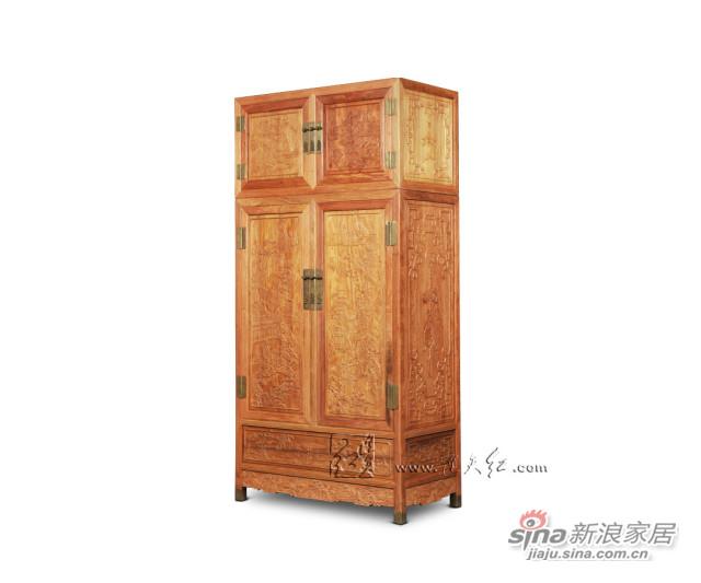 连天红百子顶箱柜组合-5