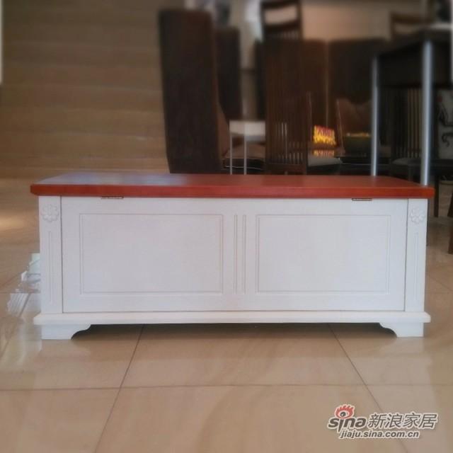 【新干线】板木储物收纳床尾箱凳青少年欧式田园家具-0