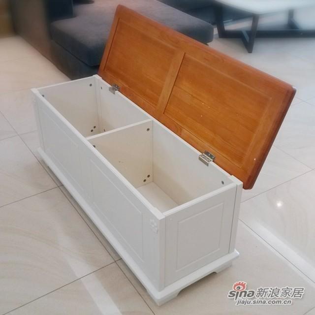 【新干线】板木储物收纳床尾箱凳青少年欧式田园家具-3