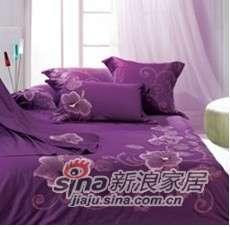 紫罗兰家纺床上用品全棉婚庆绣花六件套爱恋VYL0605-0