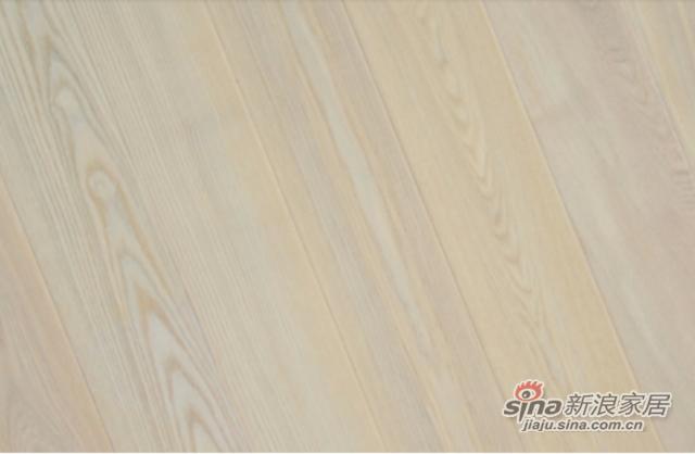 金桥地板三层实木复合地板无醛环保木地板锁扣 白玉象牙-1
