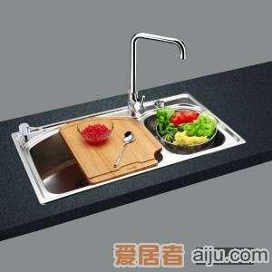 GORLDE优质不锈钢水槽/洗菜池 巴赫系列2036FY(大小盆)1