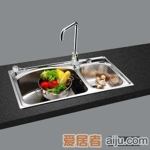 GORLDE优质不锈钢水槽/洗菜池 巴赫系列2036FY(大小盆)2