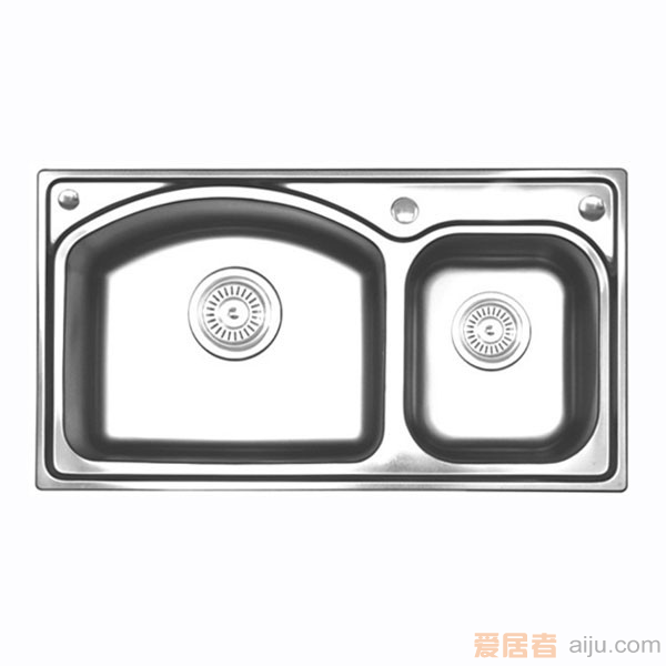 GORLDE优质不锈钢水槽/洗菜池 巴赫系列2036FY(大小盆)3