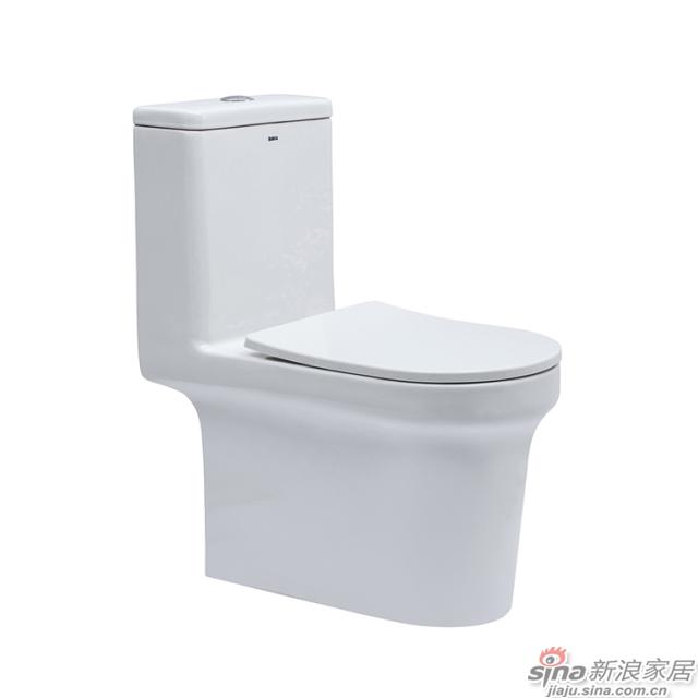 航标卫浴连体坐便器