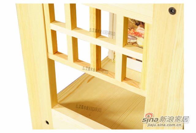 艾森木业名松屋松木书房系列全实木书柜书架-3