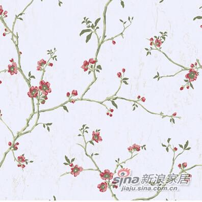 美式田园复古树枝叶壁纸