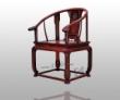 连天红透雕卷草纹圈椅