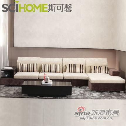 斯可馨 布艺沙发简约现代组合客厅三人位沙发 大中户型可拆洗 310-1