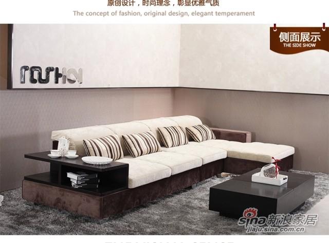 斯可馨 布艺沙发简约现代组合客厅三人位沙发 大中户型可拆洗 310-2