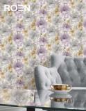 柔然壁纸 浪漫的水彩花纯纸墙纸
