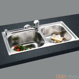 GORLDE优质不锈钢水槽/洗菜池 银莱茵系列2031FL(大小盆)