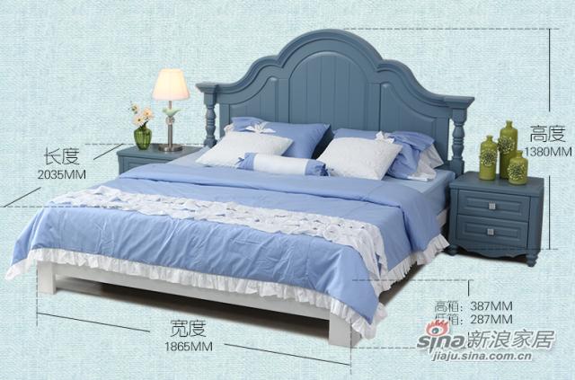 地中海风格双人床-2