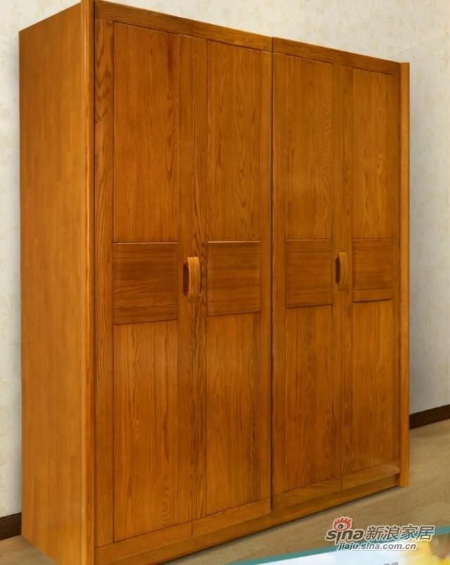 光明橡木四门衣柜-0