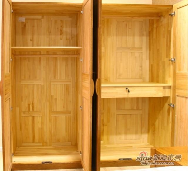 光明橡木四门衣柜-2