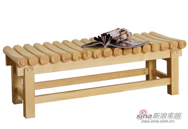 艾森木业名松屋松木系列全实木条凳