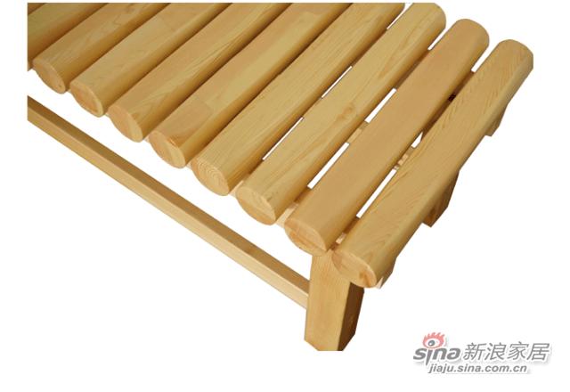 艾森木业名松屋松木系列全实木条凳-1