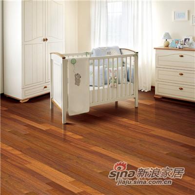 德合家BEFAG三层实木复合地板B55605三拼孪叶苏