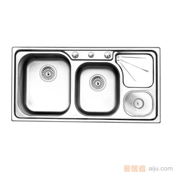 GORLDE优质不锈钢水槽/洗菜池 环保星系列WHBS-4#(大小盆)1