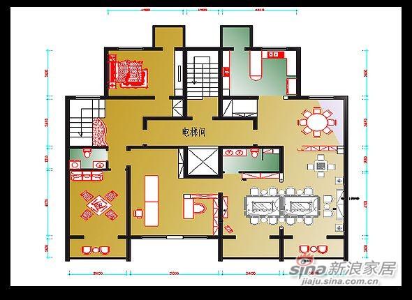 书香世家80万装复式美宅设计案例-3