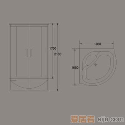 惠达-HD108整体淋浴房2