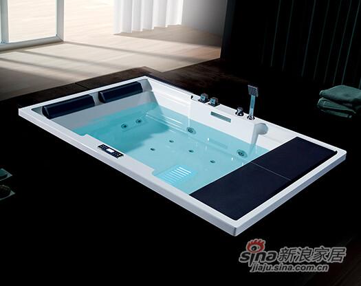 百德嘉卫浴嵌入式按摩浴缸H843032