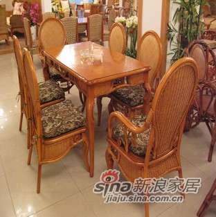 凰家御器藤餐厅桌椅茶几藤家具休闲椅NH-R901-0