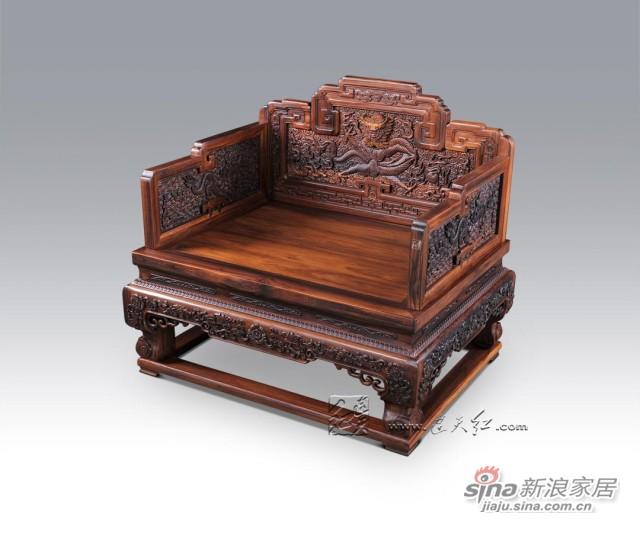 连天红云龙纹宝座-1